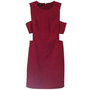 Bebe Pink Cut-Out Mini-Dress